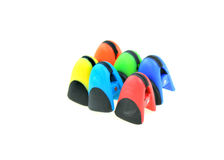 Colorful chip bag clips Royalty Free Stock Image