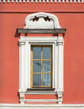 Colorful chirch window, decorated with stucco. Traditional colorful chirch window,decorated with stucco Stock Image