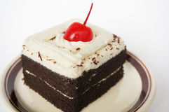 Colorful chocolate black forest cake Royalty Free Stock Photography