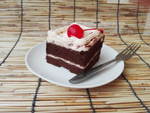 Colorful chocolate black forest cake Royalty Free Stock Photo