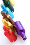 Colorful chocolate bottles Royalty Free Stock Photography