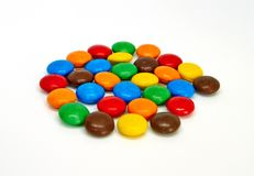 Colorful chocolate buttons stock image