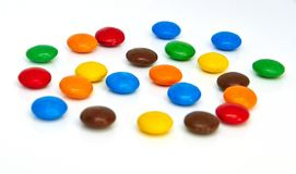 Colorful chocolate buttons royalty free stock photography