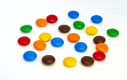 Colorful chocolate buttons royalty free stock image