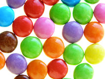 Colorful chocolate candies stock image
