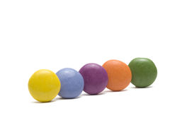Colorful chocolate candies. Chocolate colorful candies isolated on white background Royalty Free Stock Image