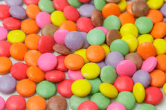 Colorful chocolate candies use for background Royalty Free Stock Images