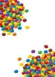 Colorful chocolate candies on white Royalty Free Stock Photo