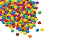 Colorful chocolate candies on white Royalty Free Stock Images