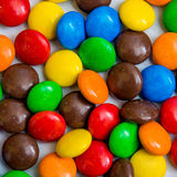 Colorful chocolate coated candy Stock Photos