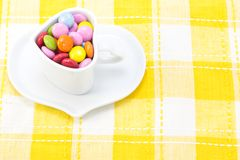 Colorful chocolate and coffee cup Stock Photo