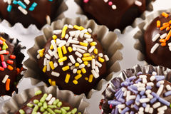 Colorful chocolate dessert decoration Stock Image