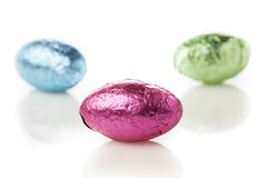Colorful Chocolate Easter Egg Candy Stock Images