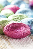 Colorful Chocolate Easter Egg Candy Royalty Free Stock Photos