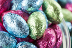Colorful Chocolate Easter Egg Candy Royalty Free Stock Images