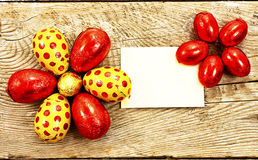 Colorful chocolate Easter eggs in foil Royalty Free Stock Image