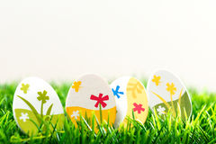 Colorful chocolate easter eggs Royalty Free Stock Image