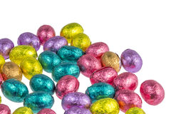 Colorful chocolate easter eggs Stock Photography
