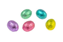 Colorful chocolate easter eggs Stock Photo