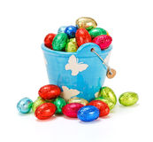 Colorful chocolate eggs Royalty Free Stock Photo