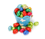 Colorful chocolate eggs Royalty Free Stock Photography
