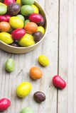 Colorful chocolate peanuts Stock Images