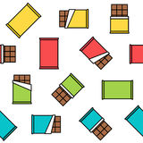 Colorful chocolate seamless pattern on white background Royalty Free Stock Image