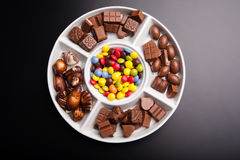 Colorful chocolate sweets Royalty Free Stock Image