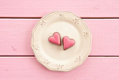 Colorful chocolates in heart-shape Stock Photography