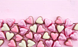 Colorful chocolates in heart-shape Royalty Free Stock Photos
