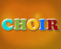 Colorful Choir Theme Royalty Free Stock Photo