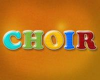 Colorful Choir Theme Royalty Free Stock Photo