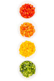 Colorful Chopped Bell Pepper II Stock Photography