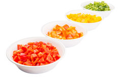 Colorful Chopped Bell Pepper VI Stock Photos