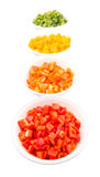 Colorful Chopped Bell Pepper XII Royalty Free Stock Photo