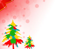 colorful christman tree left side, abstract background Royalty Free Stock Images