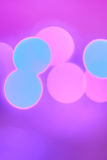 Colorful Christmas abstract background with bokeh lights. In blue,. magenta, pink vector illustration