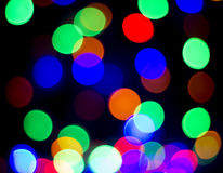 Colorful Christmas abstract background lights Stock Image