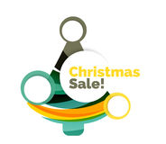 Colorful Christmas abstract banner design with bubbles Royalty Free Stock Photography