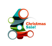 Colorful Christmas abstract banner design with bubbles Stock Photography