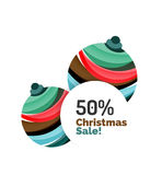Colorful Christmas abstract banner design with bubbles Stock Image