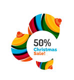 Colorful Christmas abstract banner design. Vector Royalty Free Stock Images