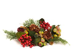 Colorful christmas arrangement Stock Photography