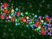 Colorful Christmas background Royalty Free Stock Image
