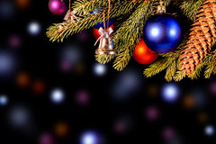 Colorful christmas background with lights Stock Image