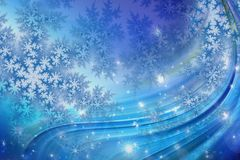 Colorful Christmas background with snowflakes and stars. Beautiful blue and pink Christmas background - snowflakes, stars,lights vector illustration