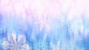 Colorful Christmas background with snowflakes and stars. Beautiful blue and pink Christmas background - snowflakes, stars,lights Stock Image