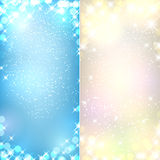 Colorful christmas backgrounds. Glowing colorful christmas backgrounds. Vector eps10 Stock Photos