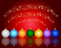 Colorful christmas ball background Royalty Free Stock Image