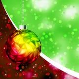 Colorful Christmas Ball card template. EPS 8 Royalty Free Stock Image